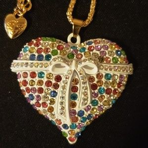 Betsey Johnson Bow Heart Style Necklace